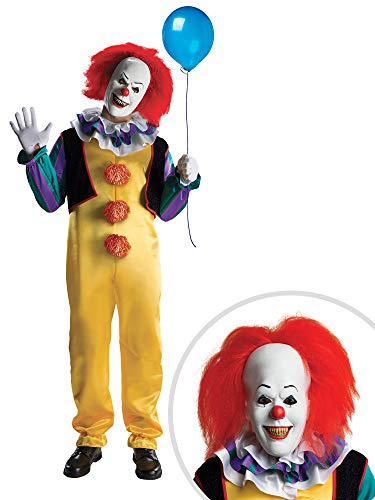 IT Pennywise Clown Costume Kit Deluxe Adult XL with Mask