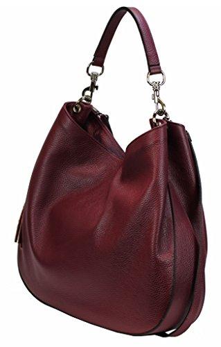 c66eb04b2d6cc ... Bozana Bag Sia weinrot Italy Designer Damen Handtasche Ledertasche  Schultertasche Tasche Leder Shopper Neu ...