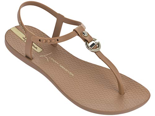 Ipanema Len Locket Women's Sandals, Brown/Gold (10 US) ()