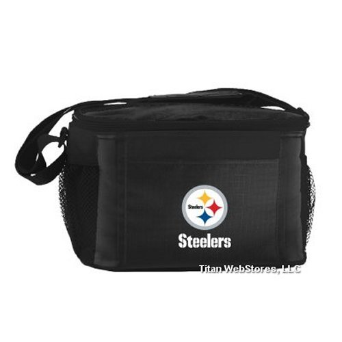 NFL Football Tailgating 6 Pack Cooler - Lunch Box Cooler (Nfl Beverage Cooler)