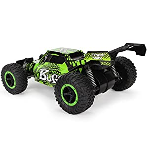 [RC Car] 1:16 2WD High Speed Racing Car Remote Control Truck Off-Road Buggy Toys (Green)