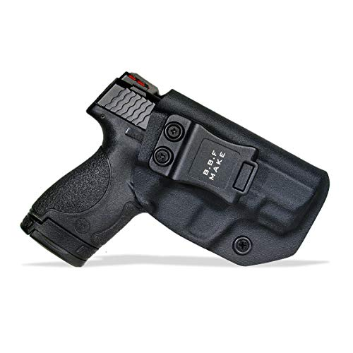 B.B.F Make IWB KYDEX Holster Fit: Smith & Wesson M&P Shield & Shield 2.0-9MM/.40 S&W | Retired Navy Owned Company | Inside Waistband | Adjustable Cant | US KYDEX Made (Black, Right Hand Draw (IWB)) (Smith And Wesson 40 Compact Clip)