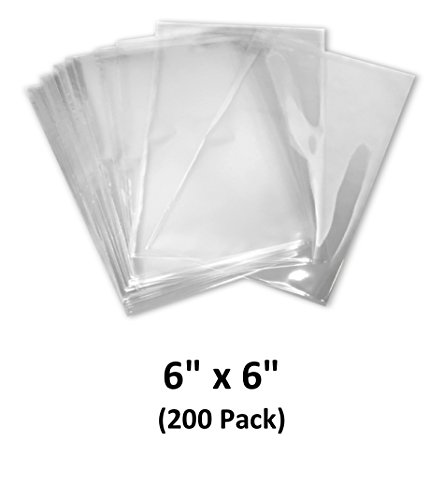 (6x6 inch Odorless, Clear, 100 Guage, PVC Heat Shrink Wrap Bags for Gifts, Packagaing, Homemade DIY Projects, Bath Bombs, Soaps, and Other Merchandise (200 Pack) | MagicWater Supply)