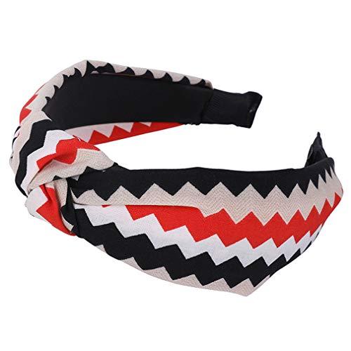 Shang Jie Elastic Hair Bands Flower Stripe Plaid Print Turban Headband for Women Cloth Plastic Hair Hoop Bezel Hair Accessories Floral 3