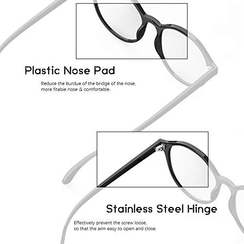 LUENX Blue Light Blocking Glasses For Women/Men – Protective Filter Glasses for Computer Gaming Anti Eyestrain