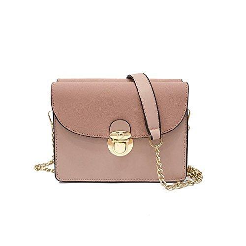 Bolsa Rosa Bag Versátil Negro Ocio De Satchel Y Bolsa Pequeña Sencillo Meaeo Cuadrado Pequeño Estilo Nuevo fZ7wq