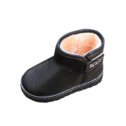 Igemy Martin Stiefel Kinder Herbst Winter Warm Mode Kinder Mädchen Jungen Casual Snow Schuhe Schwarz