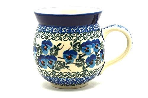 (Polish Pottery Mug - 11 oz. Bubble - Winter Viola)