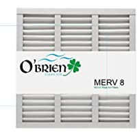 18X24X1 MERV 8 Air Filter (6 Pack) - OBrien Clean Air Filters 18x24x1(Nominal) 19 1/2x23 1/2x3/4 (Actual Size)