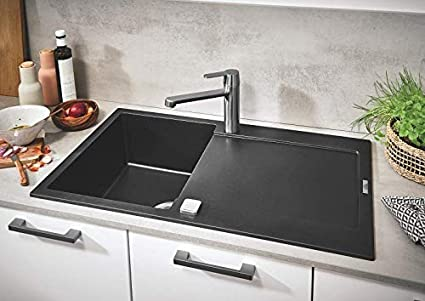 GROHE K700 granit schwarz 31650AP0 Kompositsp/üle
