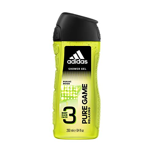 (Adidas Pure Game Relaxing Body, Hair, Face Shower Gel, 8.4 ounces )