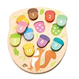 Tender Leaf Toys - How Many Acorns? - Count to 10 Number Wooden Puzzle Game - Counting, Sorting Activity Game for Children, - Playroom, Montessori, Classroom, & Activity Room Toys