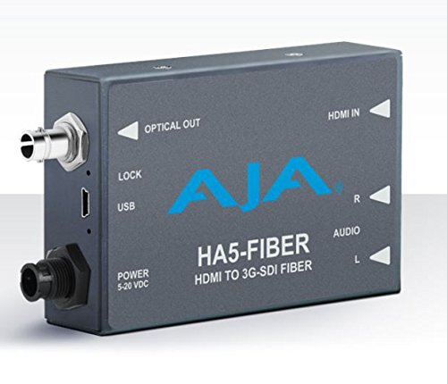 AJA HA5-Fiber HDMI to 3G-SDI over Fiber Video and Audio Converter