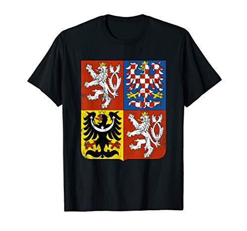 Czech Republic T-shirt Bohemian Lion Coat of Arms Tee