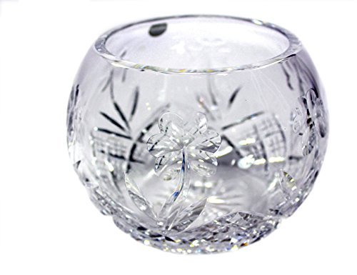 Crystal Bowl with Engraved Shamrocks Made in (Engraved Crystal Bowls)