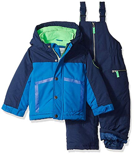 (Carter's Baby Boys Heavyweight 2-Piece Skisuit Snowsuit House Blue/Current Navy)