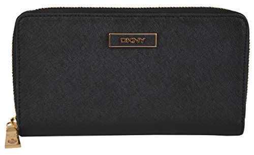 DKNY Saffiano Leather Continental Zip Around …