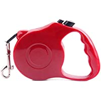 Retractable Dog Leash - Red, 5m Long, Quality Durable Lead for Dog Walking, Adjustable Pet Lead (Dog or Cat)