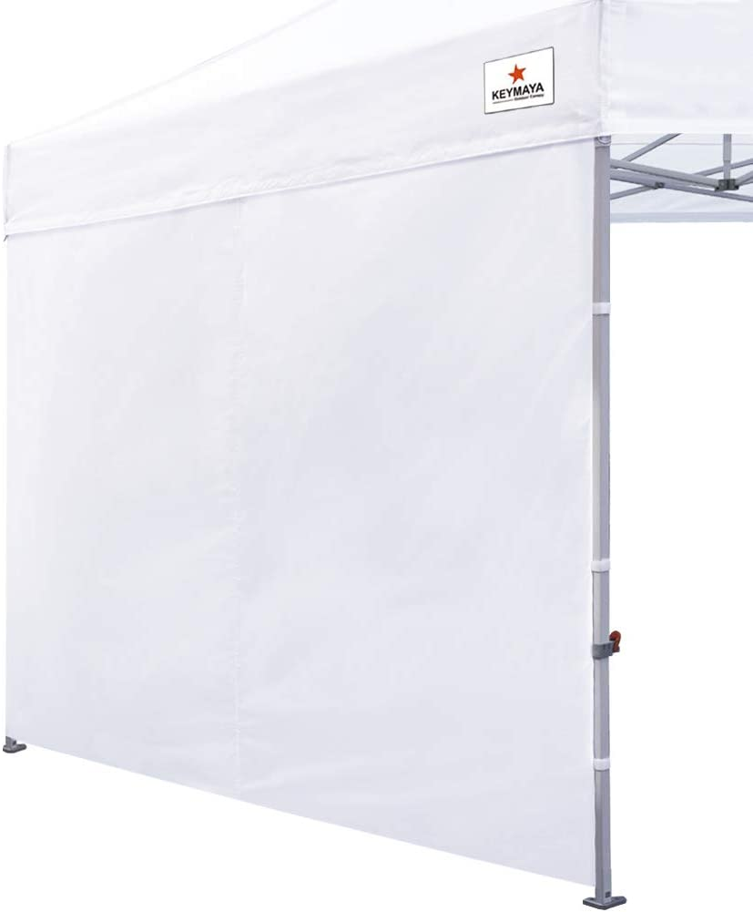 Keymaya Instant Canopy SunWall for 10x10 Feet, 10x20 Feet Straight Leg pop up Canopy, 1 Pack Sidewall Only (White)