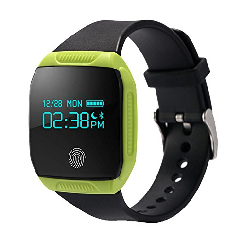 COOSA Smart Wristband Waterproof Health Activity GPS Fitness Tracker Bluetooth Smart Band Sync Bracelet for Android iOS (Green)