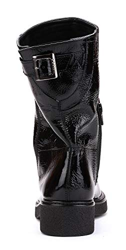 Flexx Big The Brillant Noir Biker Femme Botte AHCaw