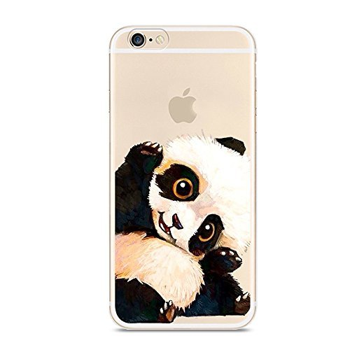 iPhone 6 6s Case,[Color Printed] Cute Panda Series Soft TPU Silicone Protective Skin Ultra Slim & Clear with Unique Painted Design Gift Bumper Back Cover for iPhone 6/6s 4.7 inch Panda hi