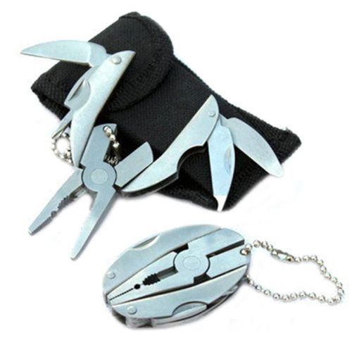 Pocket Multi Function Tools Set Mini Foldaway Keychain Pliers Knife Screwdriver - 2