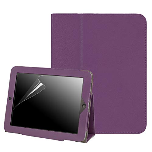 HDE Case for Original iPad 1st Generation - Slim Fit Leather Cover Stand Folio with Magnetic Closure for Apple iPad 1 (Purple) (Generation Ipad Case First)