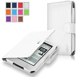 Kindle Case - Exact Amazon Kindle 7th Gen Case [PRO Series] - Premium PU Leather Folio Case for Amazon Kindle 7th Generation E-Reader (2014) White
