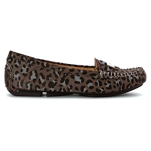 Vionic Womens Easy Sydney Loafer Gray Leopard