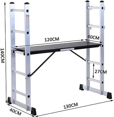 Escalera Andamio multiusos, de aluminio.: Amazon.es: Bricolaje y herramientas