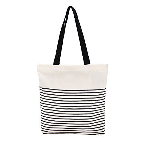 Cotton Canvas Tote Bag with Inner Pocket Adorable Large Tote Bag for ()