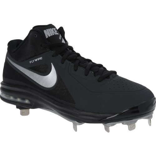 Nike Air Max MVP Elite 3/4 Baseball Cleats Size 9 Black Silver
