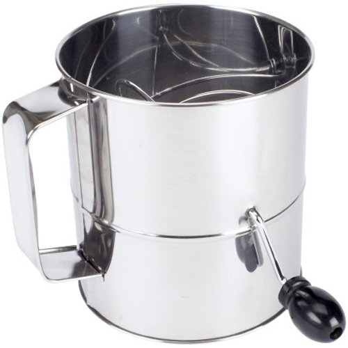 Handle Sifter - Sur La Table Stainless Steel Crank-Handle Sifters SCS-015, 5 cup
