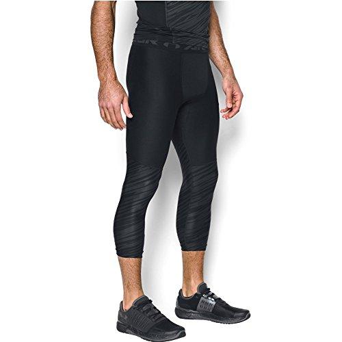 (Under Armour Men's HeatGear Armour Football Printed ¾ Leggings,Black /Anthracite, Large)