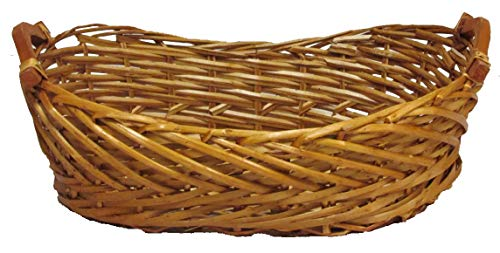 Admired By Nature Split Woody Willow Boat Shape Tray w/Wood Ear Handles, Honey (Boat Basket)