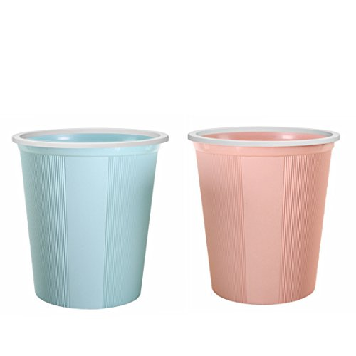 Waste Bin Small, XSHION [2 Pack] Waste Paper Baskets Trash Can Bathroom Garbage Bins without Lid by XSHION