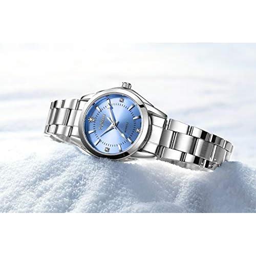 Women's Watches Gorgeous Luxury Dress Casual Fashion Waterproof Blue/Gold/Black/Pink Watches Diamond Rhinestone Quartz Wrist Watch