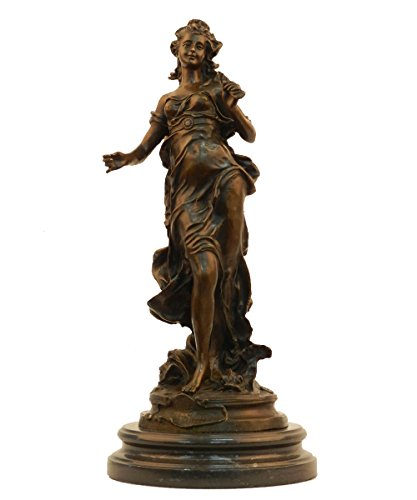 Toperkin Metal Crafts Young Lady Bronze Sculpture Art Collection Crafts Female Bronze Statue TPY-833