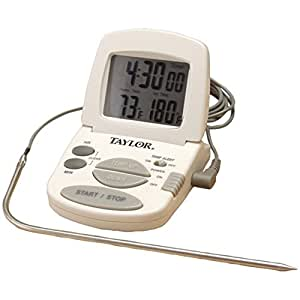 Taylor 1470N Digital Cooking Thermometer/Timer Home & Garden