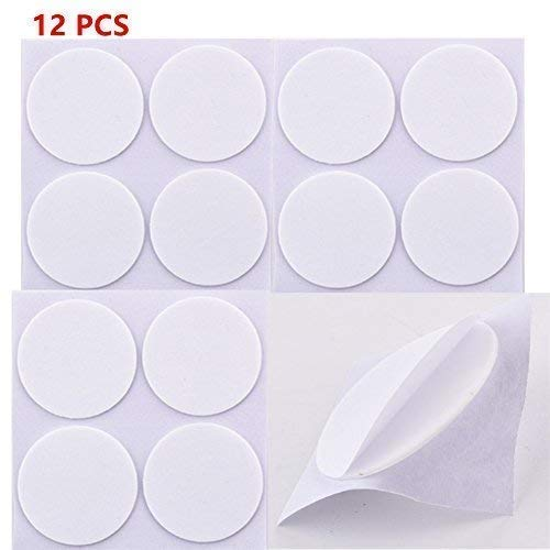 12 PCS Replacement Round Double Sided Adhesive Sticker Compatible with Phone Stand Mounting Tape Holder/Wall Hook(White) by MGQFY (Image #2)