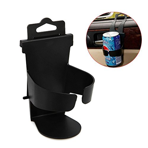 Dealglad® New Black Universal Adjustable Car Auto Vehicle-mounted Door Back Seat Bottle Drink Cup Clip-on Mount Holder Bracket Stand (Cars Auto Holders Drink)