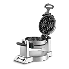 The Cuisinart Double Belgian Waffle Maker expertly bakes two 1-inch extra-deep, restaurant-style waffles at the same time. Just add syrup or fruit and enjoy a luxurious breakfast or special dessert right at home! The easy-to-handle rotary fea...