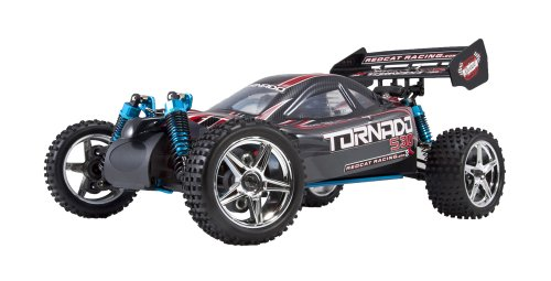 Redcat Racing Tornado S30 Buggy Nitro with 2.4GHz Radio (1/10 Scale), Blue/Red ()