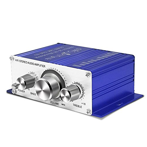 Tsumbay Mini Amplifier 12V Hi-Fi Stereo Audio Amplifier