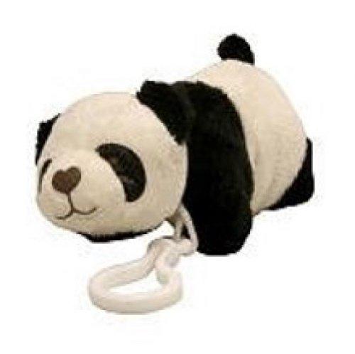 "Pillow Pets Teenies 5.5"" Black & White Plush PANDA with Clip"