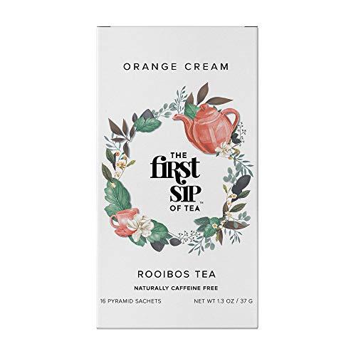 (The First Sip of Tea Rooibos Orange Cream, 16 Count Tea Box)