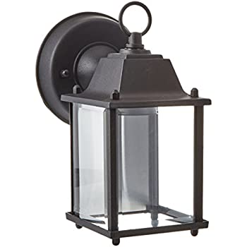 "Trans Globe Lighting 40455 BK Outdoor Patrician 8"" Wall Lantern, Black"