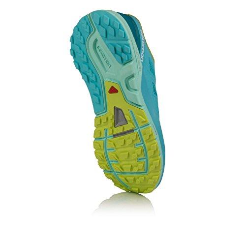 Salomon Womens Sense Pro Max Door De Mens Veroorzaakte, Mesh Trail Running Sneakers Blue Curacao / Beach Glass / Acid Lime
