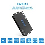 ezcoo 4K HDMI 2.0 Splitter HDR Scaler Switch, HDMI Splitter 1x4 4K 60Hz 4:4:4 18Gbps HDR Dolby Vision, HDCP 2.2, Smart EDID, Four HDMI Output 4K &1080P Together,Manual Down Scaler Setting, Atmos,DTS:X